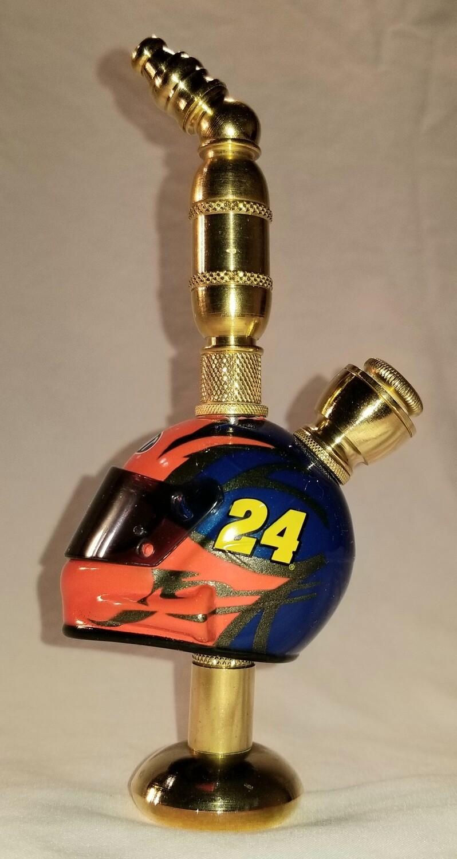 JEFF GORDON #24 NASCAR DRIVER HELMET SMOKING PIPE  Stand Alone/Brass