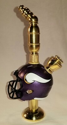 MINNESOTA VIKINGS NFL FOOTBALL HELMET SMOKING PIPE Stand Alone/Brass
