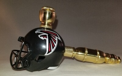 ATLANTA FALCONS NFL FOOTBALL HELMET SMOKING PIPE Straight/Brass