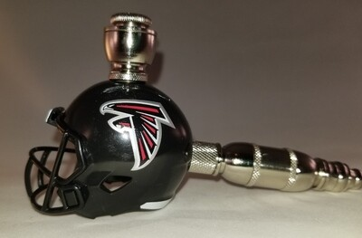 ATLANTA FALCONS NFL FOOTBALL HELMET SMOKING PIPE Straight/Nickel