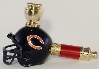 CHICAGO BEARS NFL FOOTBALL HELMET SMOKING PIPE Mini/Brass