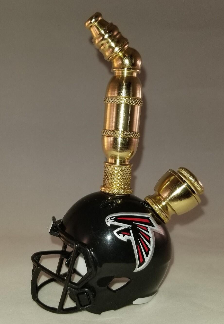 ATLANTA FALCONS NFL FOOTBALL HELMET SMOKING PIPE Upright/Brass