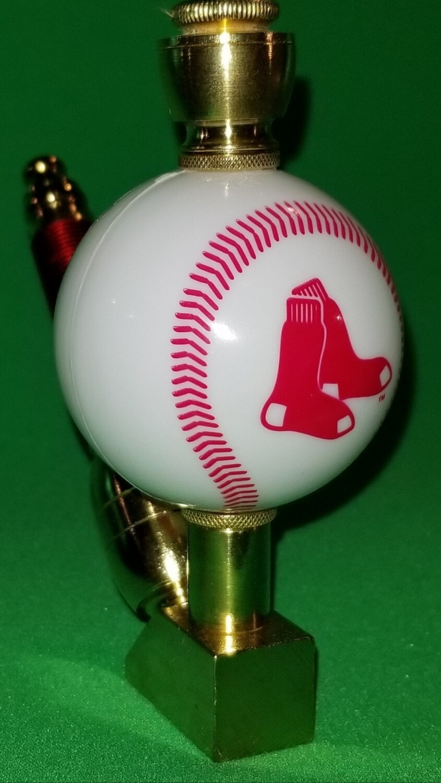 BOSTON RED SOX BASEBALL PIPE Wedge/Brass/White