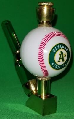 OAKLAND A's BASEBALL PIPE Wedge/Brass