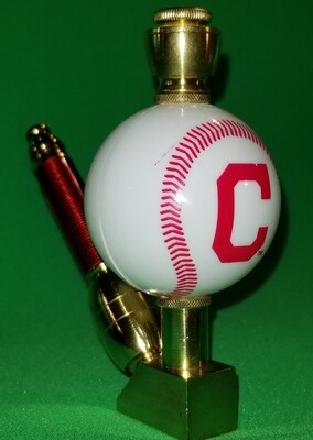 CLEVELAND INDIANS BASEBALL PIPE Wedge/Brass
