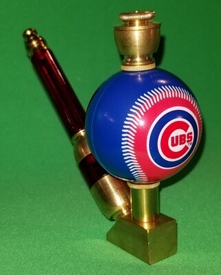 CHICAGO CUBS BASEBALL PIPE Wedge/Brass