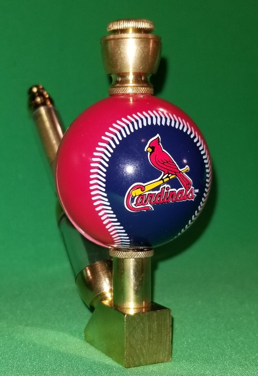 ST. LOUIS CARDINALS BASEBALL PIPE Wedge/Brass