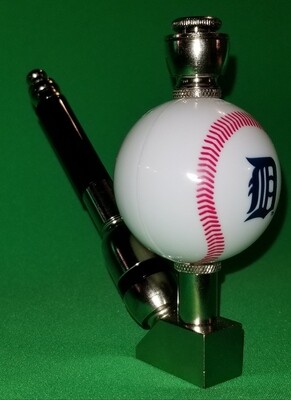 DETROIT TIGERS BASEBALL PIPE Wedge/Nickel/White