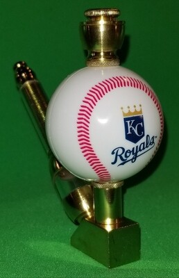 KANSAS CITY ROYALS BASEBALL PIPE Wedge/Brass