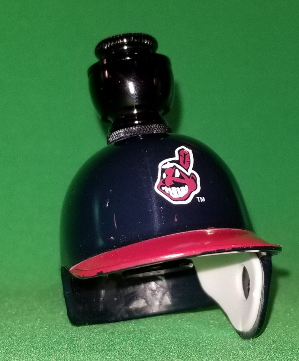 "CLEVELAND INDIANS ""BAD ASS"" BASEBALL BATTING HELMET SMOKING PIPE Straight/Black Anodized"