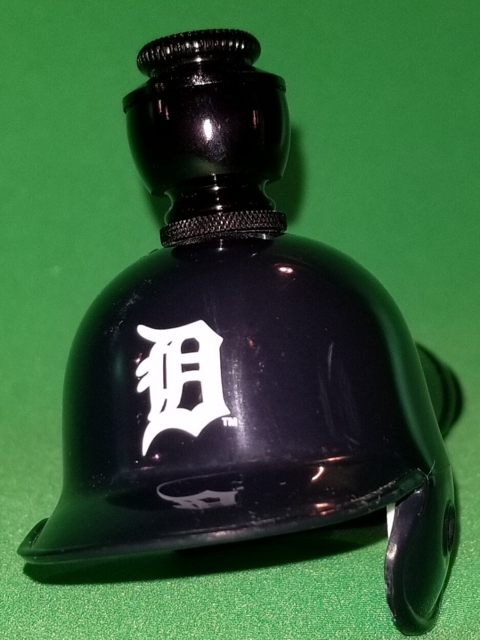"DETROIT TIGERS ""BAD ASS"" BASEBALL PIPE Straight/Black Anodized"