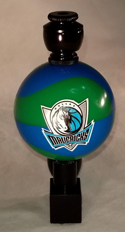 "DALLAS MAVERICKS ""BAD ASS"" COLOR BASKETBALL SMOKING PIPE Wedge/Black Anodized/Color Ball"
