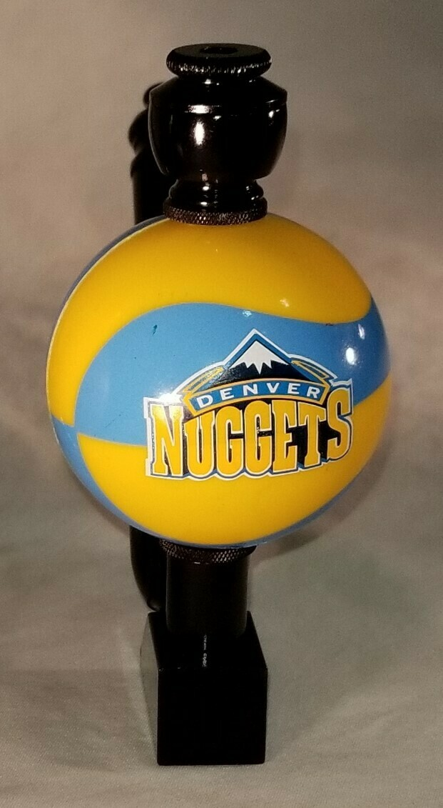 """DENVER NUGGETS """"BAD ASS"""" COLOR BASKETBALL SMOKING PIPES Wedge/Black Anodized/Color Ball"""