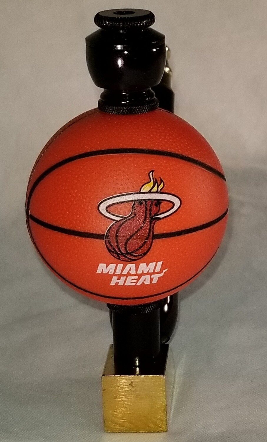 "MIAMI HEAT ""BAD ASS"" BASKETBALL SMOKING PIPE Wedge/Brass/Black Anodized"