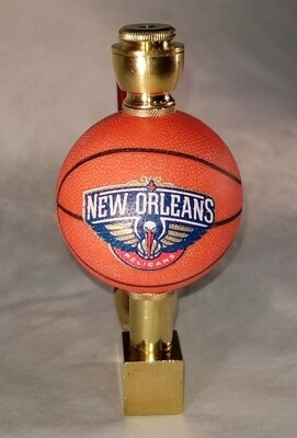NEW ORLEANS PELICANS BASKETBALL SMOKING PIPE Wedge/Brass