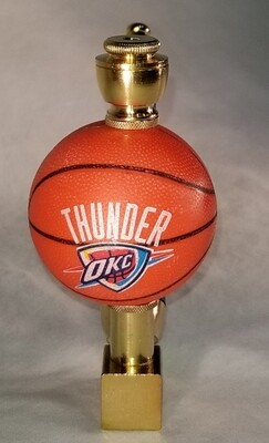 OKLAHOMA THUNDER BASKETBALL SMOKING PIPE Wedge/Brass