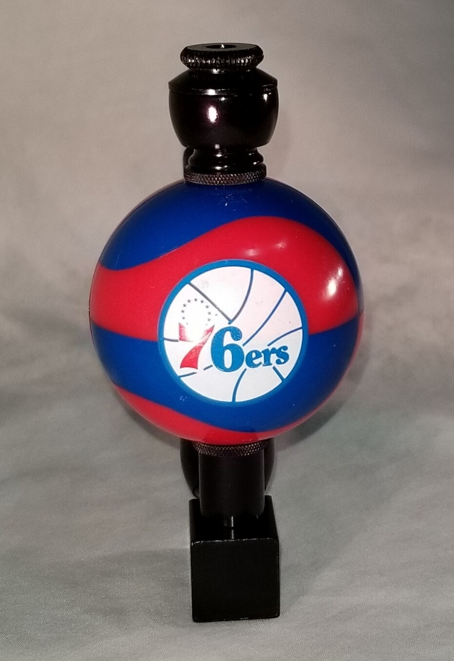 "PHILADELPHIA 76er's ""BAD ASS"" COLOR BASKETBALL SMOKING PIPE Wedge/Black Anodized"
