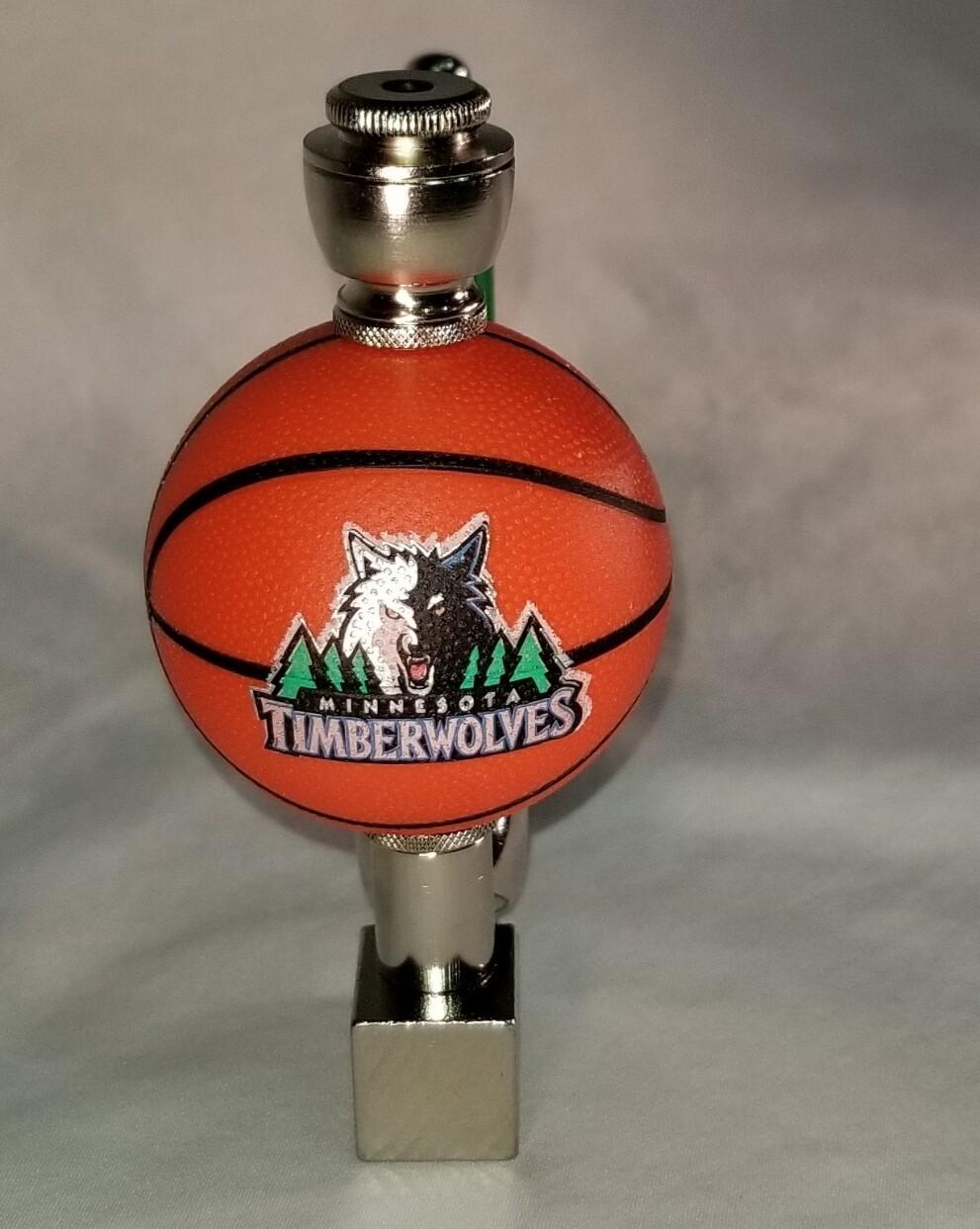 MINNISOTA TIMBERWOLVES BASKETBALL SMOKING PIPE Wedge/Nickel/