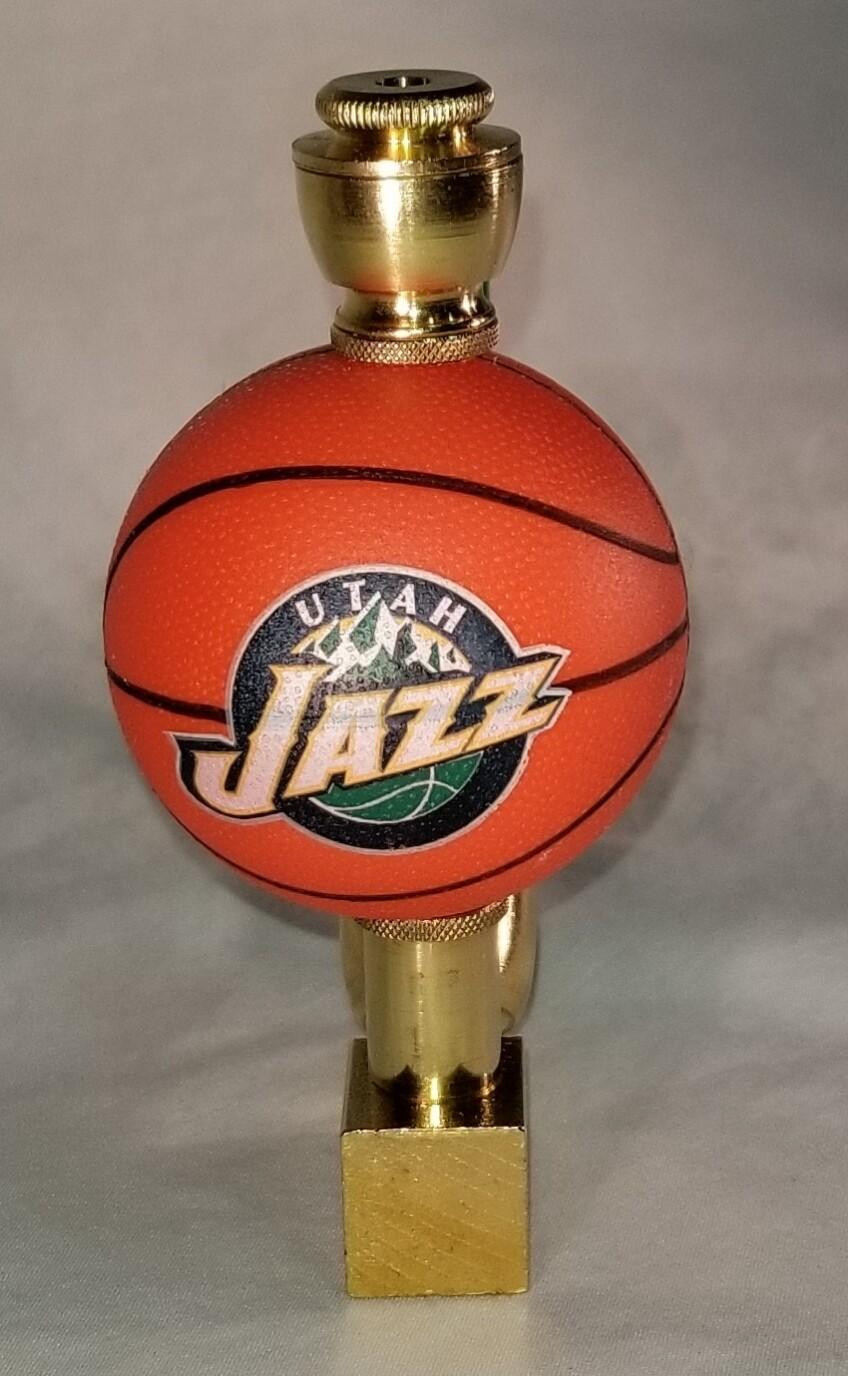 UTAH JAZZ BASKETBALL SMOKING PIPE Wedge/Brass