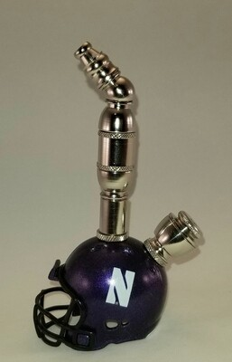 NORTHWESTERN WILDCATS  FOOTBALL HELMET SMOKING PIPE Upright/Nickel