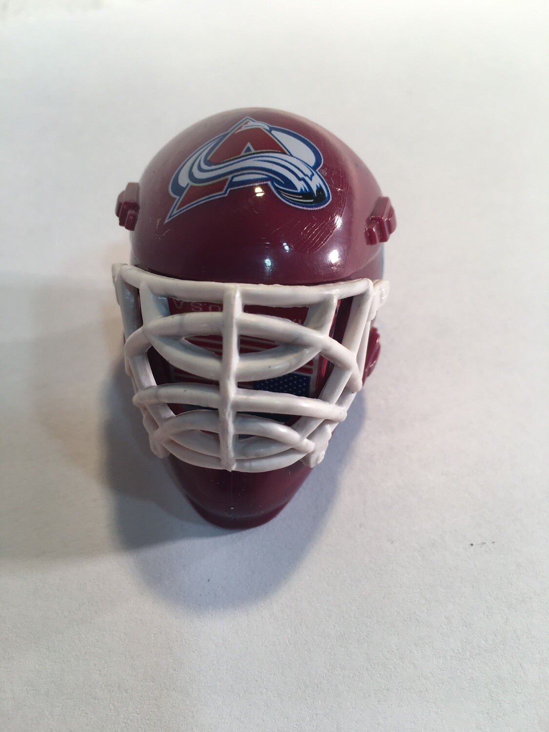 COLORADO AVALANCHE HOCKEY GOALIE MASK/HELMET CHALKER