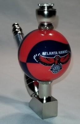 ATLANTA HAWKS COLOR BASKETBALL SMOKING PIPE Wedge/Nickel