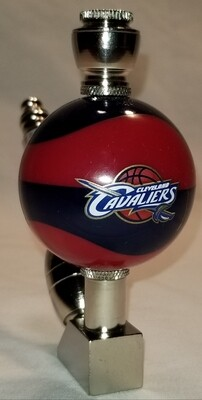 CLEVELAND CAVALIERS COLOR BASKETBALL SMOKING PIPE Wedge/Nickel