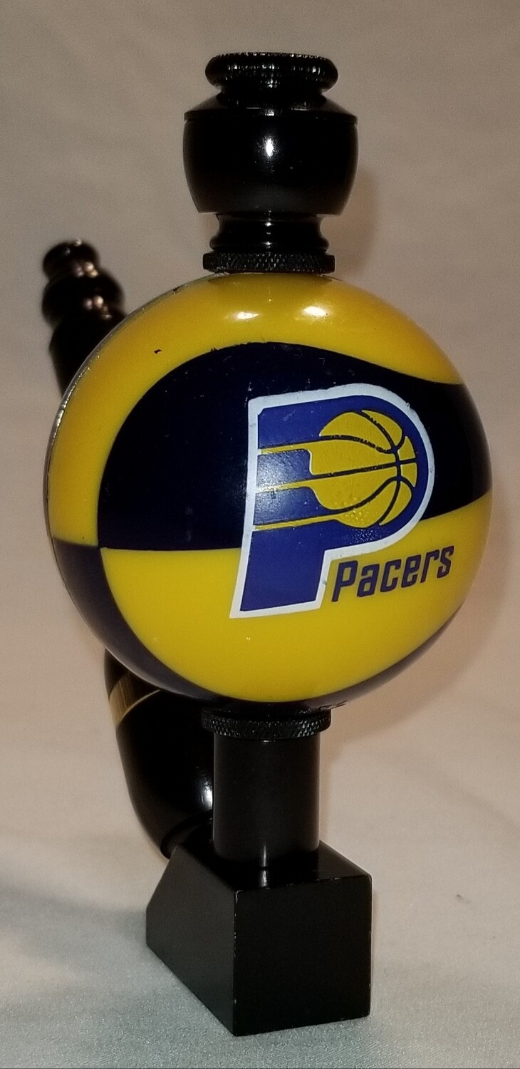 "INDIANA PACERS COLOR BASKETBALL ""BAD ASS"" SMOKING PIPE Wedge/Black Anodized"