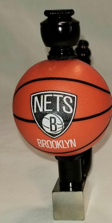 "BROOKLYN NETS ""BAD ASS"" BASKETBALL SMOKING PIPE Wedge/Black Anodized"