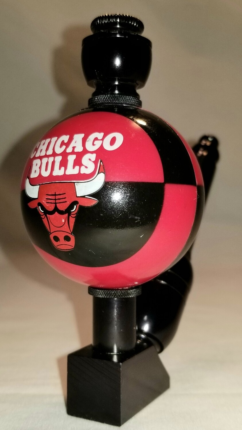 "CHICAGO BULLS ""BAD ASS"" BASKETBALL SMOKING PIPE Wedge/Black Anodized"