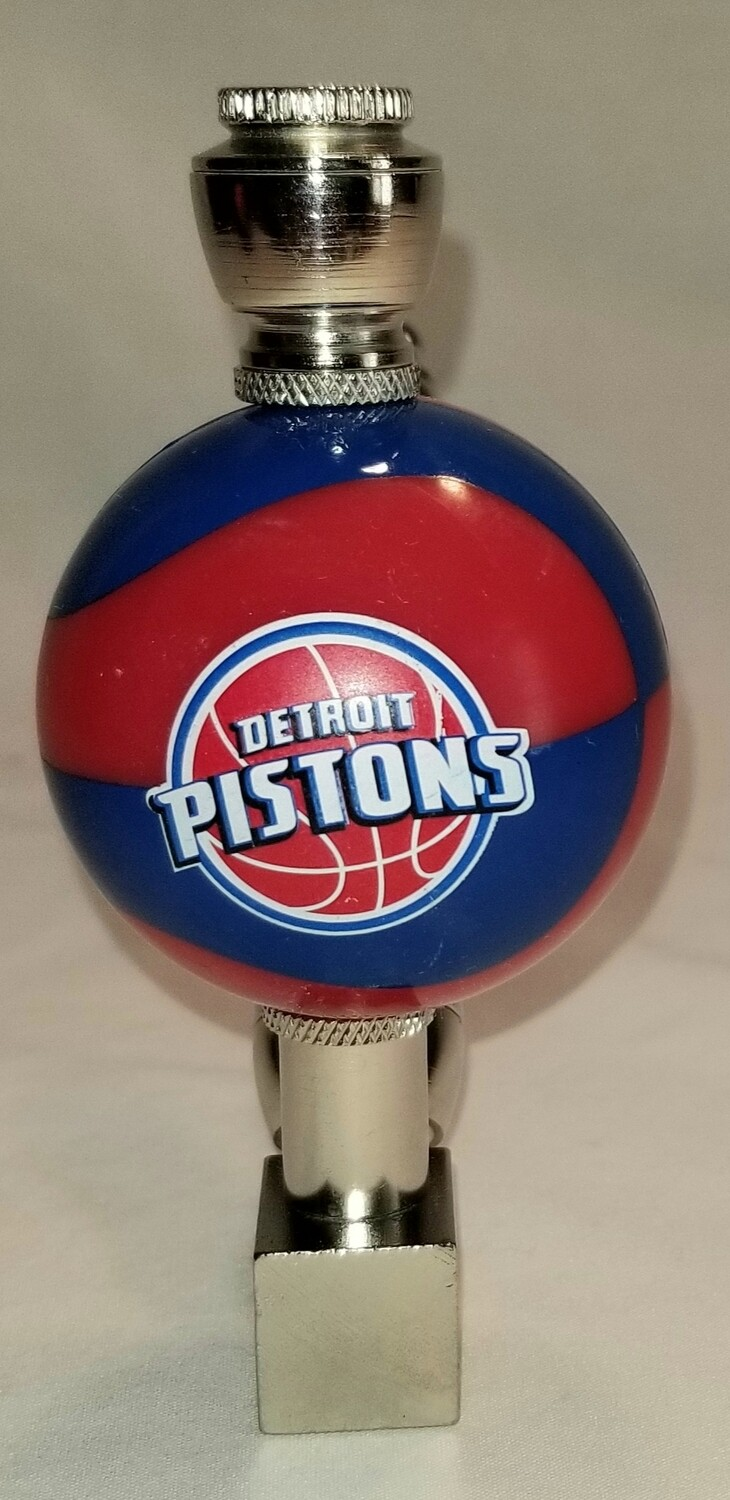DETROIT PISTONS COLOR BALL BASKETBALL SMOKING PIPE Wedge/Nickel
