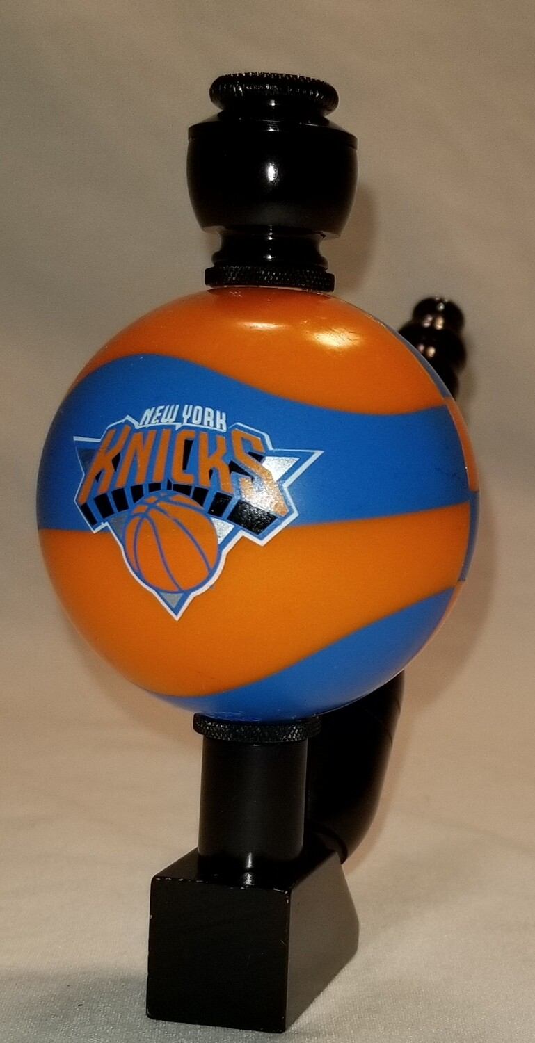 """NEW YORK KNICKS """"BAD ASS"""" COLOR BASKETBALL SMOKING PIPE Wedge/Black Anodized"""