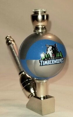 MINNISOTA TIMBERWOLVES COLOR BASKETBALL SMOKING PIPE Wedge/Nickel