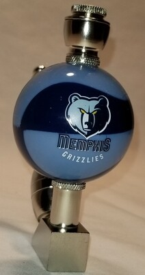 MEMPHIS GRIZZLIES COLOR BASKETBALL SMOKING PIPE Wedge/Nickel