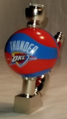 OKLAHOMA THUNDER COLOR BASKETBALL SMOKING PIPE Wedge/Nickel