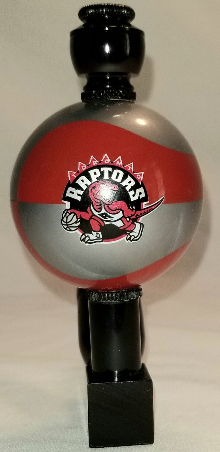 """TORONTO RAPTORS """"BAD ASS"""" COLOR BASKETBALL SMOKING PIPE Wedge/Black Anodized/Colored Ball"""
