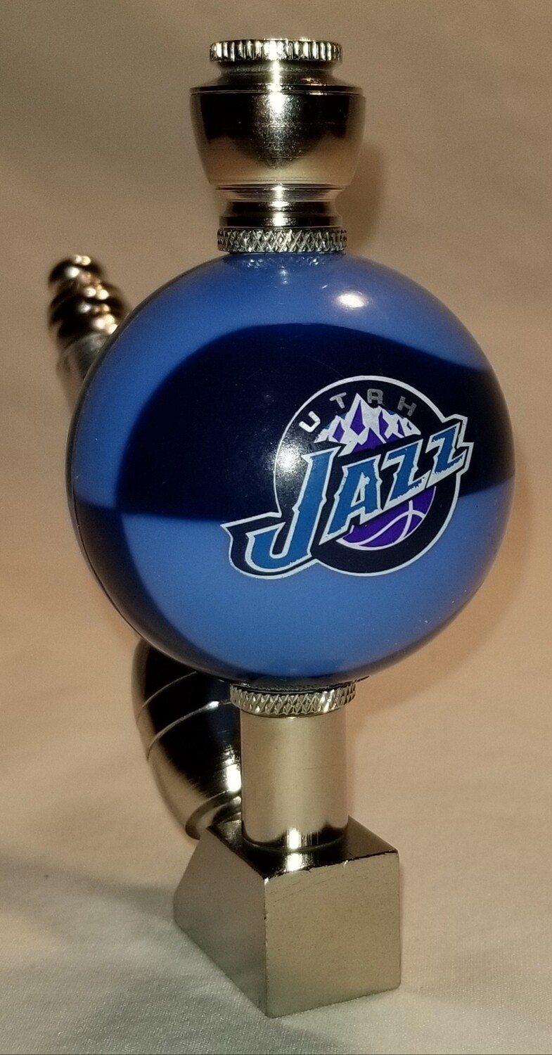 UTAH JAZZ COLOR BASKETBALL SMOKING PIPE Wedge/Nickel