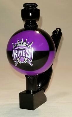 "SACRAMENTO KINGS ""BAD ASS"" COLOR BASKETBALL SMOKING PIPE Wedge/Black Anodized/Color Ball"