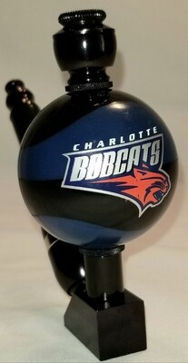 """CHARLOTTE BOBCATS """"BAD ASS"""" COLOR BASKETBALL SMOKING PIPE Wedge/Black Anodized/Old School"""