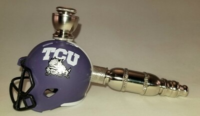 TCU HORNED FROGS FOOTBALL HELMET SMOKING PIPE  Straight/Nickel