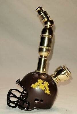 MINNISOTA GOLDEN GOPHERS FOOTBALL HELMET SMOKING PIPE Upright/Brass