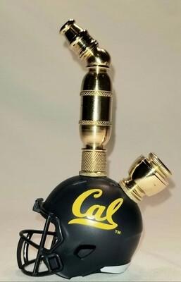 CAL GOLDEN BEARS FOOTBALL HELMET SMOKING PIPE Upright/Brass