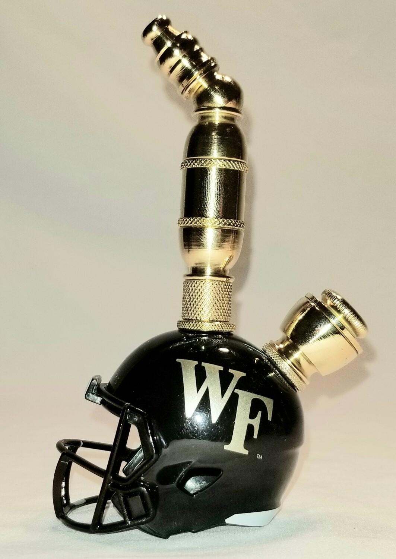 WAKE FORREST DEMON DEACONS FOOTBALL HELMET SMOKING PIPE  Upright/Brass