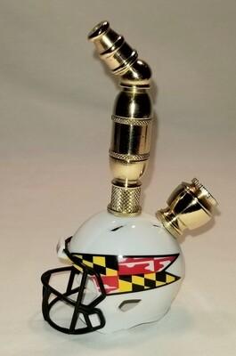 MARYLAND TERRAPINS FOOTBALL HELMET SMOKING PIPE Upright/Brass