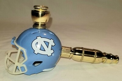 NORTH CAROLINA TAR HEELS FOOTBALL HELMET SMOKING PIPE Straight/Brass