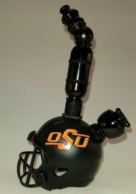 "OSU COWBOYS ""BAD ASS"" FOOTBALL HELMET SMOKING PIPE Upright/Black Anodized/Black"