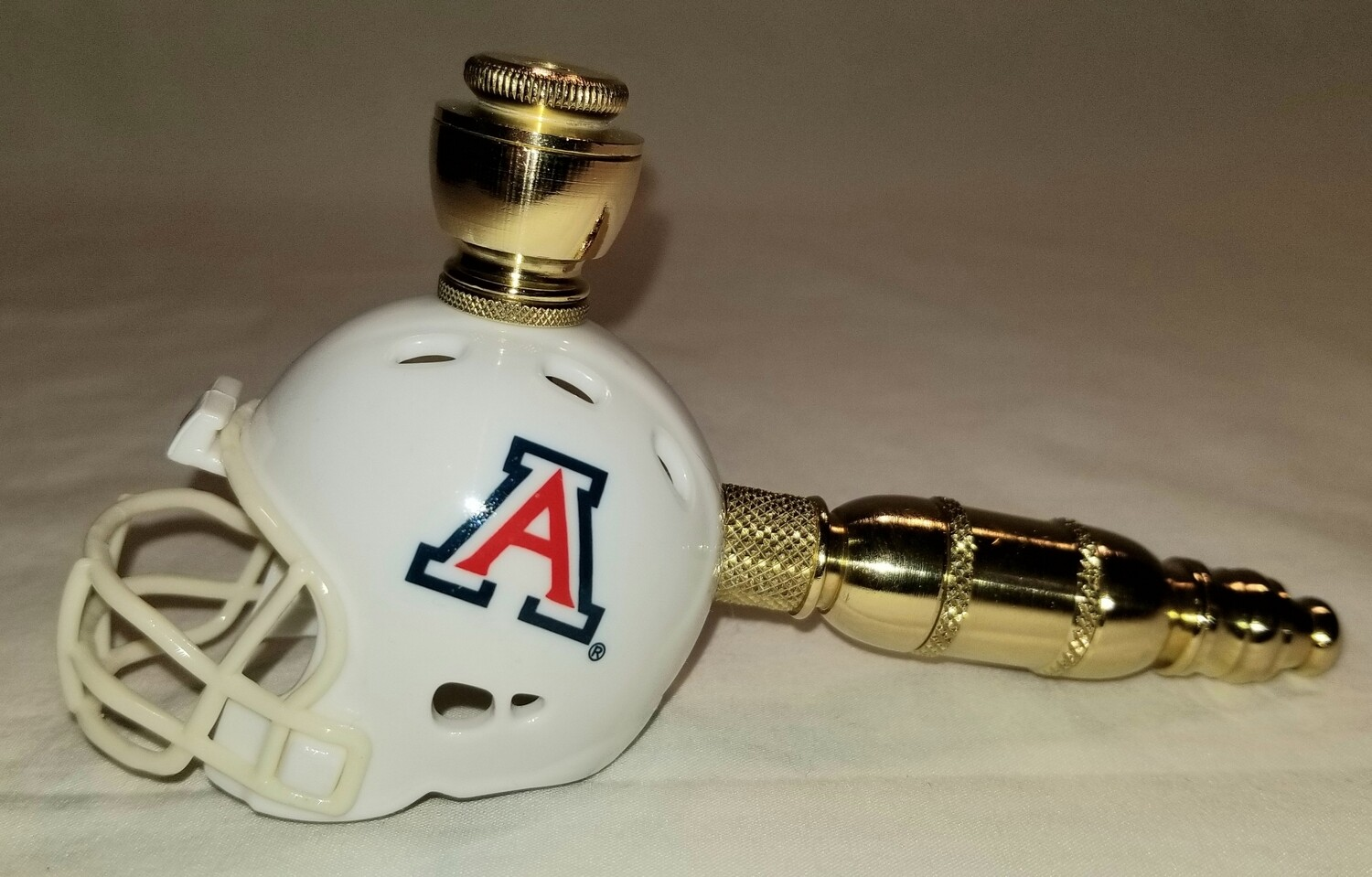 ARIZONA STATE WILDCATS FOOTBALL HELMET SMOKING PIPE Straight/Brass/White