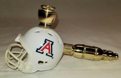 ARIZONA STATE WILDCATS FOOTBALL HELMET SMOKING PIPE Straight/Brass/White