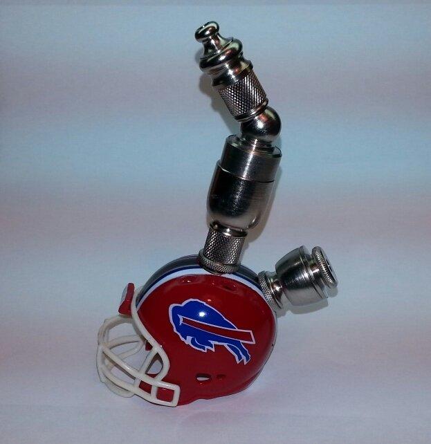 Buffalo Bills NFL Red  Helmet Pipe Upright Design  Nickel Finish
