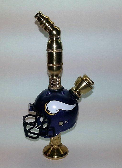 Minnesota Vikings NFL Helmet Stands Alone Design Pipe Brass Finish